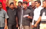 இனப்படுகொலையாளன் ராசபக்சே வருகையை கண்டித்து தேனி மாவட்டத்தில் ஆர்ப்பாட்டம்