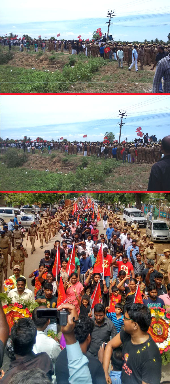Naam Tamilar Vignesh Cauvery Protest Rally  கவிரிச்செல்வன் பா. விக்னேசு க்கு இறுதி மரியாதை – காணொளி – புகைப்படங்கள் naam tamilar student vignesh